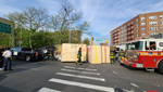 Flatbed Truck overturns on Church Avenue
