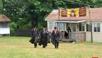 Skver Boro Park Rebbe Visiting Skver Camp in Woodridge
