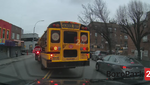 Drivers Seen Passing Flashing Red Lights of School Bus