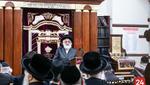 Visnitz Rebbe from Yerishulayim Giving a Shiur in the Karlin Stolin Shul in Boro Park