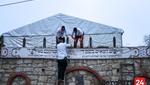 "Last Preparations for the Yurtzeit of Rabbi Yishaya'le of Kerestier Zy""u at Rabbi Shayeles Guest House in Kerestir"
