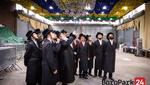 Bobover Rebbe visits the Big Bobov Sukkah in Boro Park