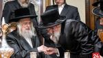 Skulen Monsey Rebbe visits Rebbes to Invite to his son's Wedding