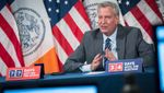 Mayor de Blasio Moves to Shut Down Neighborhoods with Uptick on Wed.