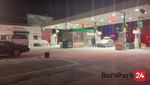 Fire Extinguishers Release Powder Above Gas Pumps at 11th Ave Gas Station